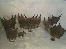 Sumatran Minangkabau Malay VillageSilver Filigree 7 Piece Set c. Early 1900's