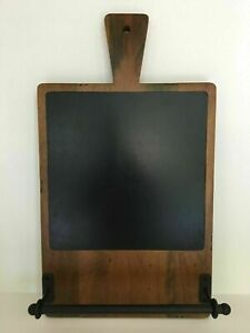 POTTERY BARN CUSINE CHALKBOARD WITH TOWEL BAR NEW SOLD OUT AT POTTERY BARN RARE