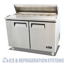 "Migali Commercial 48"" Salad & Sandwich Refrigerator Prep Table Cooler C-SP48-12"