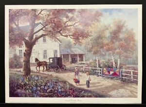 """Carl Valente Lithograph Art Print """"Amish Country Home"""" 34""""x24.5"""""""