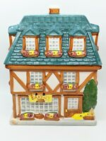 "Vintage 1999 Sherwood Brand Bakery Building Cookie Jar 9.5 H"" x 5"" W x 7.25"" L"