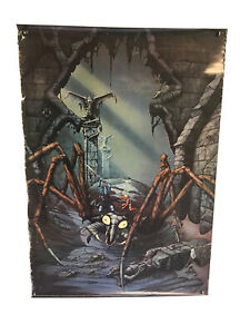 """Vintage The Great Mishassa Poster 27"""" X 39"""" By Rodney Matthews Lord Of Spiders"""