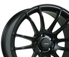 Avid1 AV20 Rims 18x9.5 +38 5x114.3 Black WRX Civic TSX TL STI RSX Lancer IS300