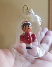 Vintage angel in glass bell ornament pre-owned Christmas Xmas tree decoration