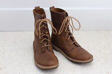 "Women's Clarks Desert Boots Mali 8"" Lace-up Beeswax Leather Boots Sz. 7"