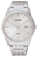 New Citizen Men's Quartz Silver Dial Analog Display Silver Tone Watch BI5000-52A