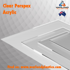 Clear Acrylic (Perspex®) Sheet (2 Pack) A4 Size 297mm x 210mm x 3mm