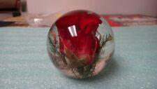 "1999=HAFOD GRANGE=  Art Glass ROSE Paperweight=Great Britain=2.5""="