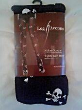 Goth Skull n' Crossbones Nylon Opaque Tights by LEG AVENUE NWT