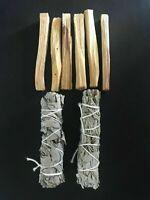 6 Palo Santo Wood & 2 White Sage Smudge Sticks: Cleansing Negativity Removal