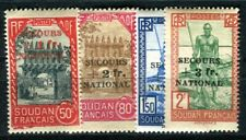 SOUDAN 1941 Yvert 125-128 * SATZ SECOURS NATIONAL 35€(F4122