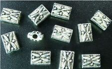 180PCS Tibetan Silver ornate square spacer beads 7mm FC78