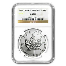 1998 Canada 1 oz Silver Maple Leaf MS-68 NGC - SKU #81755