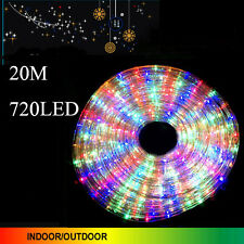 20M 720 LED Multi Color Rope Lights 3 Wire With 8 Function Controller