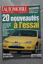 L'automobile - N° 610 - Peugeot 306 406 - Mercedes E V6 - Audi A6 - Mégane - 97