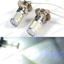 H3 LED Bulbs 10-SMD Ultra White Driving Fog Lights High Beam