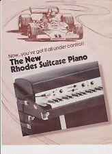 VINTAGE AD SHEET #2192 -  RHODES SUITCASE PIANO