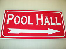 POOL HALL Sign Metel vintage Table billiard Ball cue for home or man cave shop