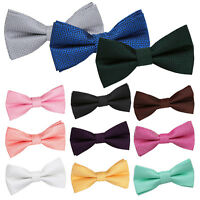 DQT Woven Geometric Greek Key Formal Wedding Classic Mens Boys Pre-Tied Bow Tie