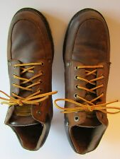 Mens Sketchers Boots Size 11 Brown Leather Upper # 4470 Hiking Trail Gently Used