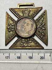 1887 Queen Victoria Iron Cross Shaped Medal with Actual PHOTO OF QUEEN!! (B685)