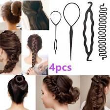 4 Pcs Hair Braiding Tool Roller with Magic Hair Clip Twist Styling Bun Maker Kit
