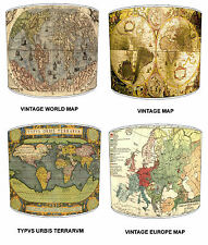 Old Atlas Maps Lampshades Ideal To Match Vintage Cushions & Curtains