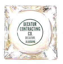 Vintage Decatur Contracting Home Repair Glass Advertising Ashtray Ex Georgia Ofr