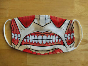 Face Mask Funny  Attack on Titans Horror Cool Reusable Protection Face Cover UK
