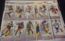 1993 Gameday/McDonalds LA RAMS Team Set 18 cards (3 sheets) BETTIS RC