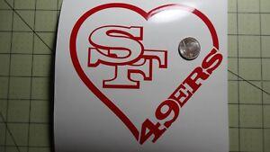 San Francisco 49ers Heart car decal