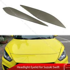 For Suzuki Swift 4th A2L Hatchback Headlight Eyelid Eyebrow Trim Painted