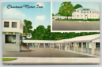 Seymour Indiana~Chestnut Motor Inn~Motel Courtyard~Office~Street View~1960s