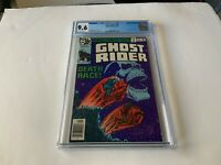 GHOST RIDER 35 CGC 9.6 WHITE PAGES COOL SKULL DEATH RACE COVER MARVEL COMICS