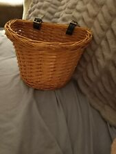 Wicker Bicycle Basket Front Handlebar Basket Bike Woven Cargo Container