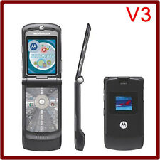 8 Colour Classic Motorola RAZR V3 (Unlocked) Cellular Flip Phone GSM Worldwide