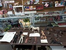 vintage johnny west figure horse and accessory lot as is see description