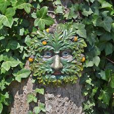 Tree Ent Face Leaf Plaque Wall Garden Ornament Greenman Myth Oak Whisperer 80602