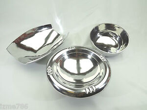 Designer Polished Aluminium Fruit Bowl Home Decor LARGE SIZE Gift Chrome