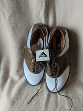 Adidas Adiwear Saddle Z-Traxion Golf Shoes Mens Size 8.5 Brown White Leather