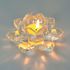 LONGWIN Crystal Candle Holder Glass Lotus Candler for Home Decoration 40mm