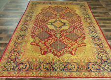 10'x13' Vintage Rare Authentic Handmade wool Tabrizz Golden Oriental rug