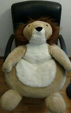 Huge Lion Chair Chrisha Playful Plush Stuffed Animal Doll Vintage Toy