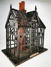 Vintage Antique Scratch Built Museum Tudor Model House Display