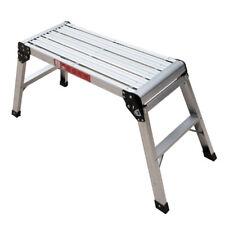 New 350LBS Step Stool & Working Platform Drywall Step Up Folding Ladder Aluminum