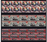 SEBASTIAN VETTEL 09 BRITISH F1 GP WIN SET OF 3 VIGNETTE STAMPS
