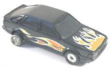Vintage 1985 Corgi SAAB 9000 Black Rally Car Diecast Model Flame Art Work