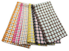 Pack of 10 Economy Check Tea Towels Cotton Rich Professional For Restaurants