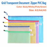 A3/A4/A5 Dokumententasche Zipper Bag PVC Tasche Aufbewahrung Zip  Reißverschluss