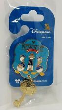 Disneyland Paris Newport Bay Hotel Key Dangle Pin Rare Disney Reveal Donald Duck